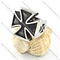 functional 316L Stainless Steel Cross Ring with punk style for Motorcycle bikers - r000522