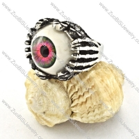good-looking 316L Steel Eyeball Ring with human skeleton finger for Motorcycle bikers - r000530