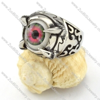 great noncorrosive steel Purple Eyeball Ring with punk style for Motorcycle bikers - r000538