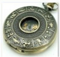Antique Mechanical Pocket Watch with chain -pw000385
