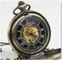 Antique Mechanical Pocket Watch with chain -pw000391