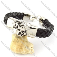 Black Leather Bracelet for Men -b001008