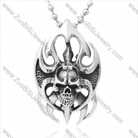 316L Stainless Steel Biker Pendant for Mens -JP350015