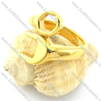 Good Yellow Gold-plating Spanner Ring -r000884