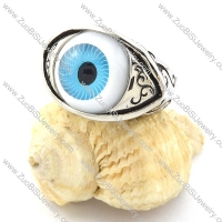 Blue Eye of Angel Stainless Steel Ring for Punk Fans -r000919