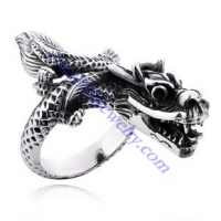 China Dragon Ring in Stainless Steel Metal -JR350047