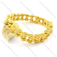 230 * 14.5mm Men Biker Chain Link Bracelet in 316L Stainless Steel -b001328