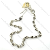 24 3D skull heads jean chains for men with skull buckle -y000004