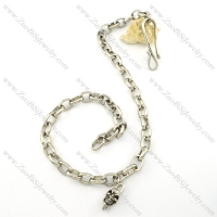 biker wallets chain with 1 3d skull head for wholesale -y000007