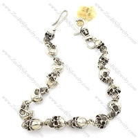 14 big solid skull wallet chain for motorcycle bikers with skull hook and skull lobster clasp -y000006