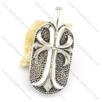 big cross dog tag pendant p001571