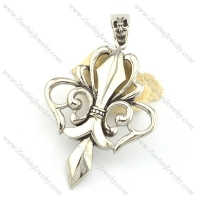 79mm big casting flower pendant p001568