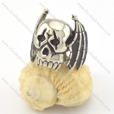 bat skull rings with 2 wings r001333