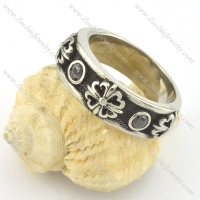 stainless steel fleur de lis ring for wholesale r001435