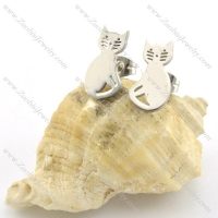 stainless steel kitty earring for girl e000729
