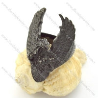 black plated casting eagle ring r001212