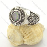 ALL FOR ONE ring with imitation fancy coloured diamond r001157
