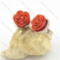 stainless steel special earring e000728