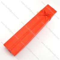 red rectangle paper jewelry boxes for necklace pa0014
