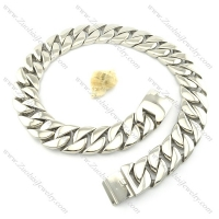 31mm wide large casting mens' stainless steel necklace n000454