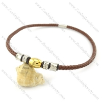 leather necklace n000439