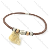 leather necklace n000431