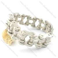 22mm wide all matte finish bike link chain bracelet for heavy and strong man bikers b002357
