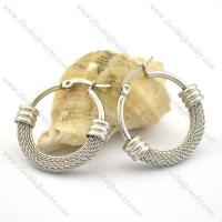 6mm stainless steel net earring e000919