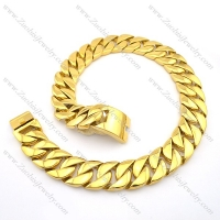 70cm long gold plating shiny steel wide and heavy necklace n000708