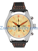 Stainless Steel Watch for Mens with Leather Band ZBSLZ0065