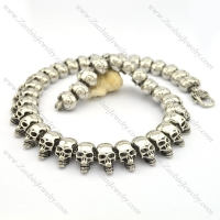 40 Skull Heads Necklace Chain For Mens n000746