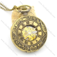classical roman number mechanical pocket watches pw000418