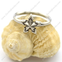 five-pointed star ring in stainless steel r002229
