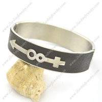 Male and Female Symbol Leather Bangle b002987