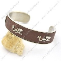3 Little Dragons Brown Leather Bangle b002995