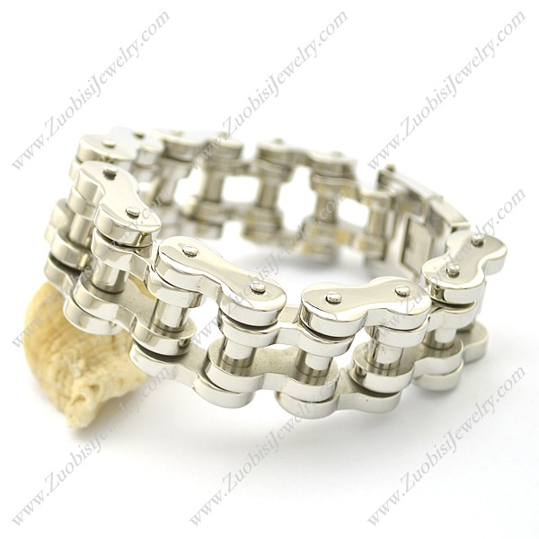 22mm Shiny Stainless Steel Bicycle Chain Bracelet