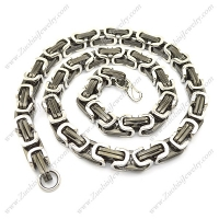 1 Meter Long 16mm Wide Black Stainless Steel Link Chain Necklace n000962