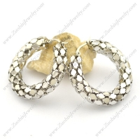 Shiny Silver Stainless Steel Popcorn Earring e001024
