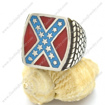 Dixie Confederate Flag Design Biker Ring for Mens Rebel Jewelry r002605