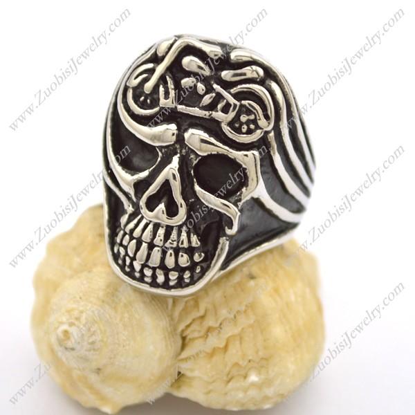 Motorcycle Bike Skull Ring