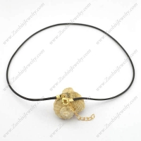 2mm Black Wax Cord Necklace Chain with Gold Lobster Clasp n001030
