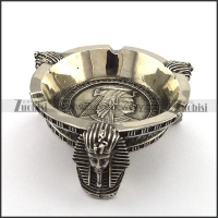 Ancient Egypt Pharaoh Ashtray in Stainless Steel a000037