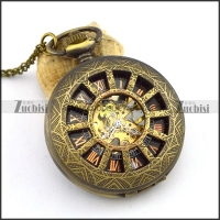 Roman Style Vintage Mechanical Pocket Watch pw000510