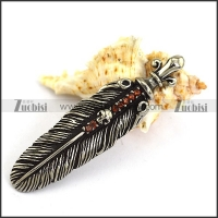 Punk Feather Charm for Bracelet p003951