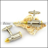 Gold Head of Cooper Bullet Cufflinks c000034
