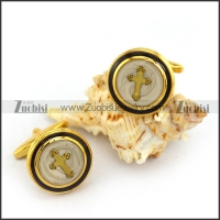 Gold Plated Cooper Cross Cufflinks c000035