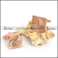 Rose Gold Quare Cooper Cufflinks c000058