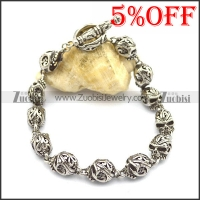 12 cut-out skull heads bracelets for ladies b002779