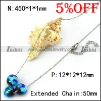Glass Chamilia Bead Chain Necklace n001366