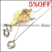 Wedding Ring Style Necklace Earring Set s001929